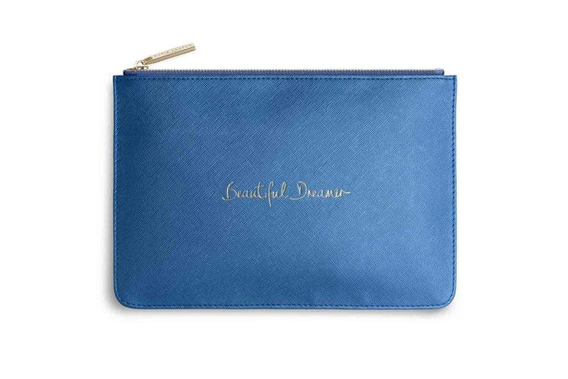 Katie Loxton Gifts One Size Katie Loxton Metallic Blue Beautiful Dreamer Perfect Pouch KLB199 izzi-of-baslow