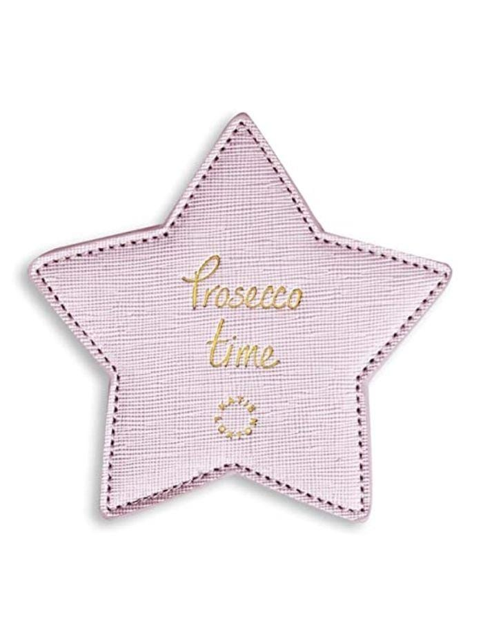 Katie Loxton Gifts One Size Katie Loxton Metallic Pink 'Prosecco Time' 2 Pack Coasters KLHA013 izzi-of-baslow