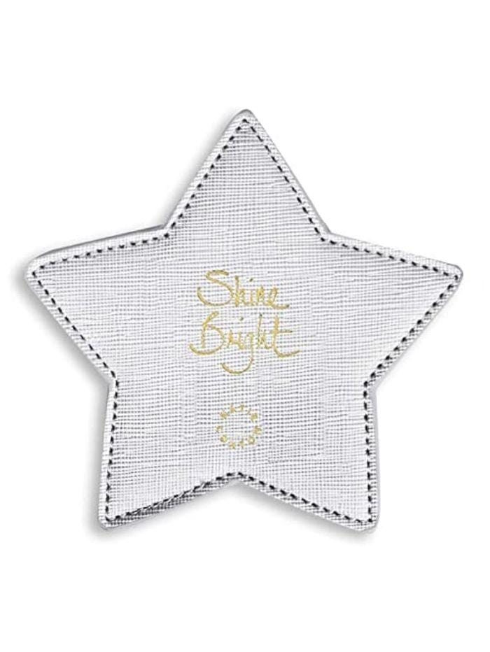 Katie Loxton Gifts One Size Katie Loxton Metallic Silver 'Shine Bright' 2 Pack Coasters KLHA012 izzi-of-baslow