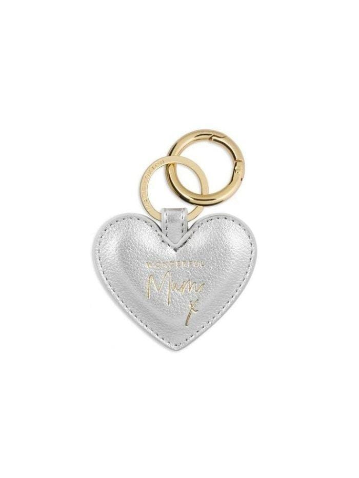 Katie Loxton Gifts One Size Katie Loxton Metallic Silver 'Wonderful Mum' Key Ring KLB704 izzi-of-baslow