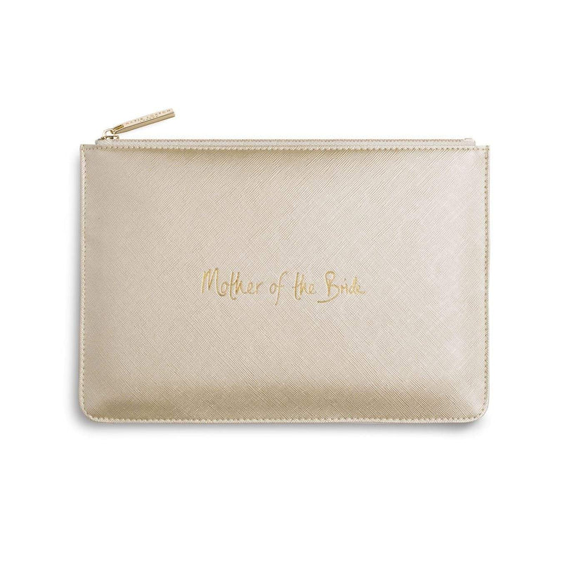 Katie Loxton Gifts One Size Katie Loxton Mother Of The Bride Perfect Pouch in Metallic Gold KLB241 izzi-of-baslow