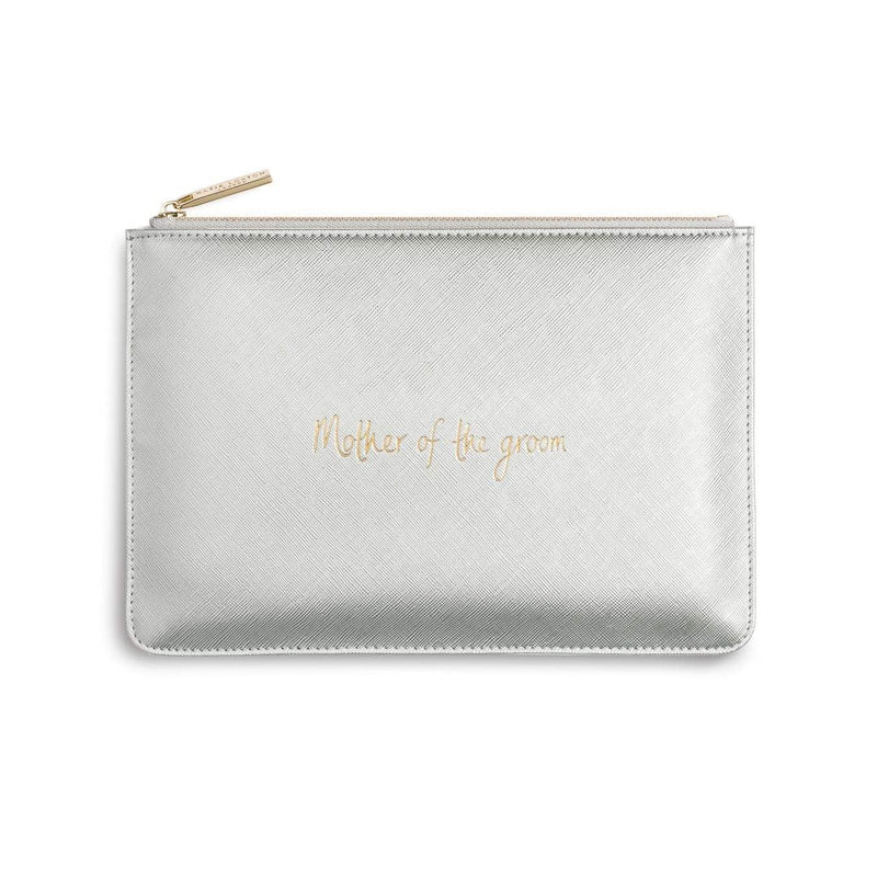 Katie Loxton Gifts One Size Katie Loxton Mother Of The Groom Perfect Pouch in Metallic Silver KLB242 izzi-of-baslow