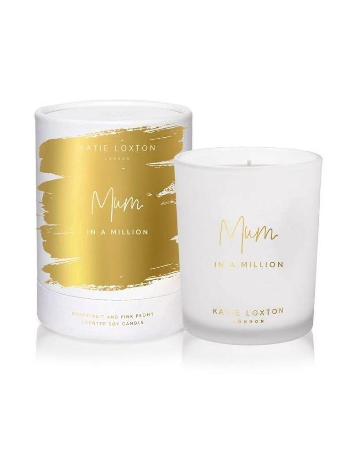Katie Loxton Gifts One Size Katie Loxton 'Mum In A Million' Candle Grapefruit and Pink Peony KLC150 izzi-of-baslow
