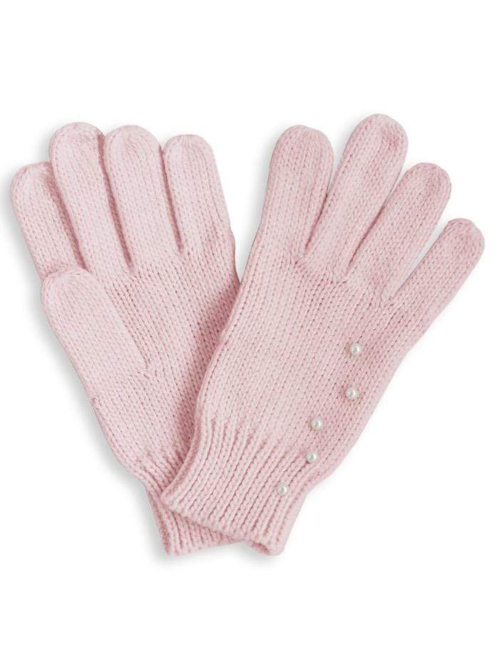 Katie Loxton Gifts One Size Katie Loxton Pearl Knit Pink Gloves KLS116 izzi-of-baslow