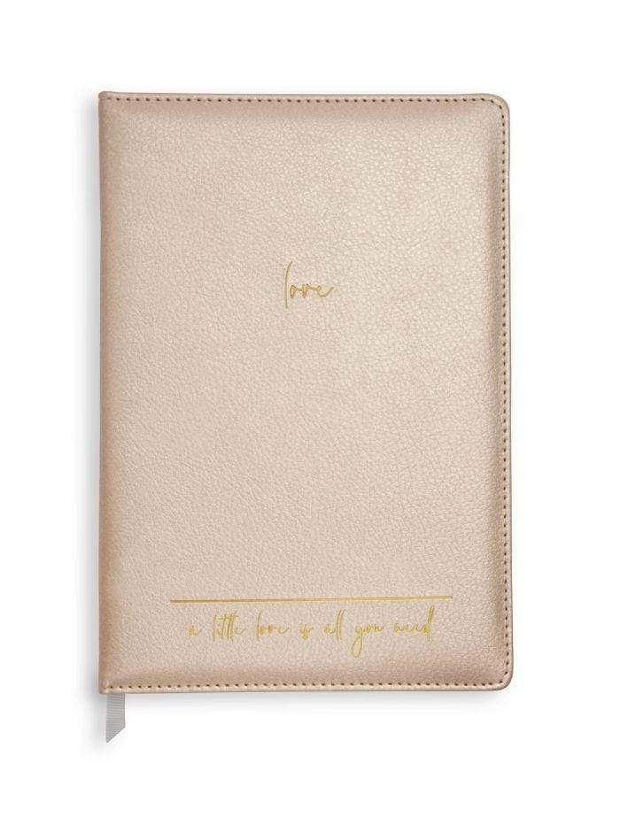 Katie Loxton Gifts One Size Katie Loxton Pearlescent Pink 'Love' Notebook KLST030 izzi-of-baslow