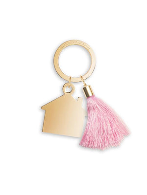 Katie Loxton Gifts One Size Katie Loxton Pink Tassel House Keyring KLB579 izzi-of-baslow