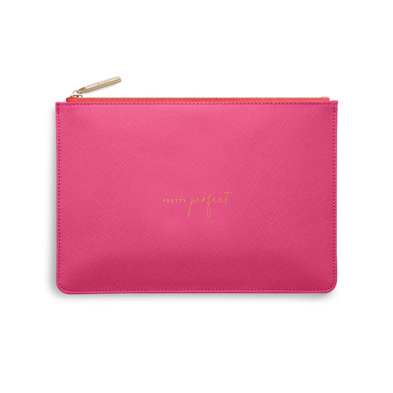 Katie Loxton Gifts One Size Katie Loxton Pretty Perfect Colour Pop Pouch in Hot Pink KLB746 izzi-of-baslow