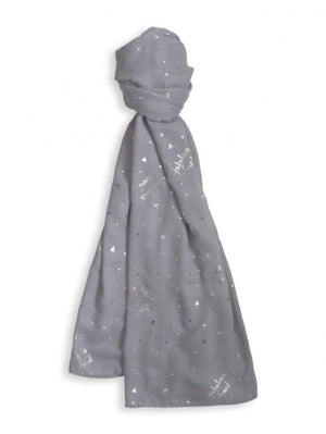 Katie Loxton Gifts One Size Katie Loxton Soft Fabulous Friend Scarf Pale Grey  KLS096 izzi-of-baslow