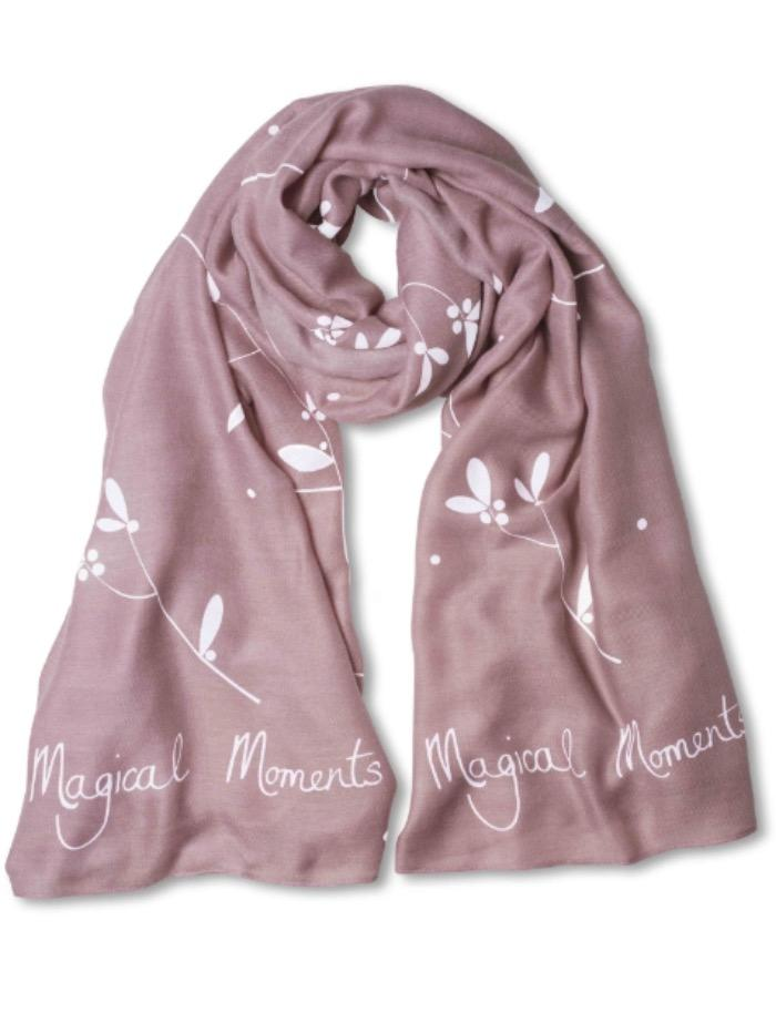 Katie Loxton Gifts One Size Katie Loxton Soft Magical Moments Scarf Pale Pink KLS060 izzi-of-baslow