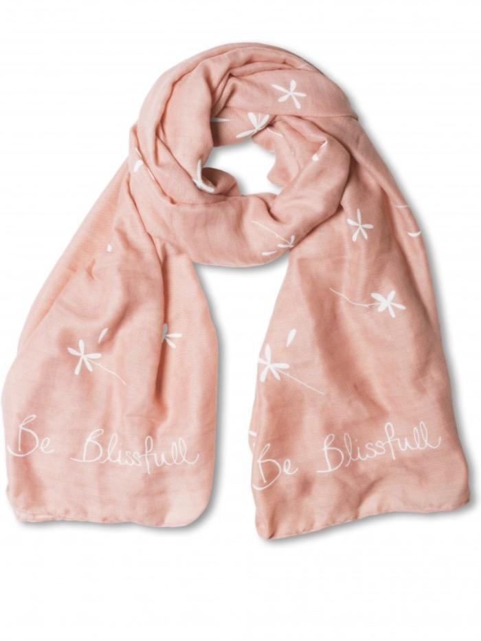 Katie Loxton Gifts One Size Katie Loxton Soft Scarf Pale Pink Be Blissful KLS040 izzi-of-baslow