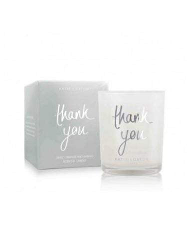 Katie Loxton Gifts One Size Katie Loxton Thank You Candle Sweet Orange and Mango KLC068 izzi-of-baslow