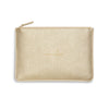 Katie Loxton Gifts One Size Katie Loxton Time To Shine Perfect Pouch in Metallic Gold KLB752 izzi-of-baslow