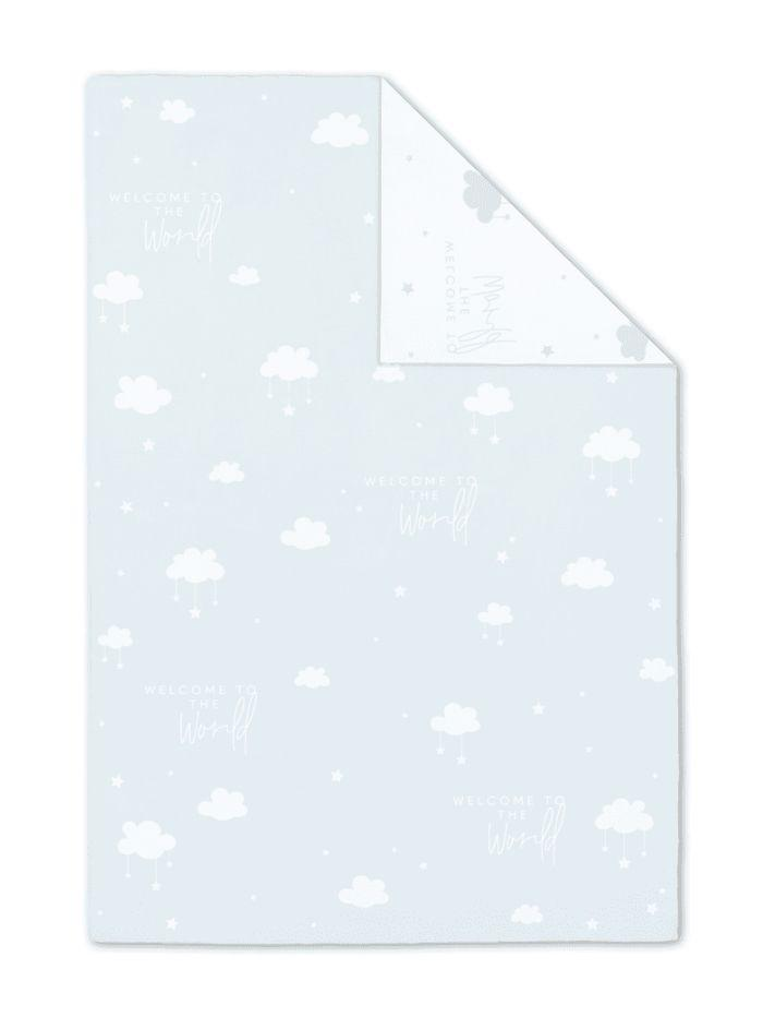 Katie Loxton Gifts One Size Katie Loxton 'Welcome To The World' Baby Blanket Blue BA0030 izzi-of-baslow