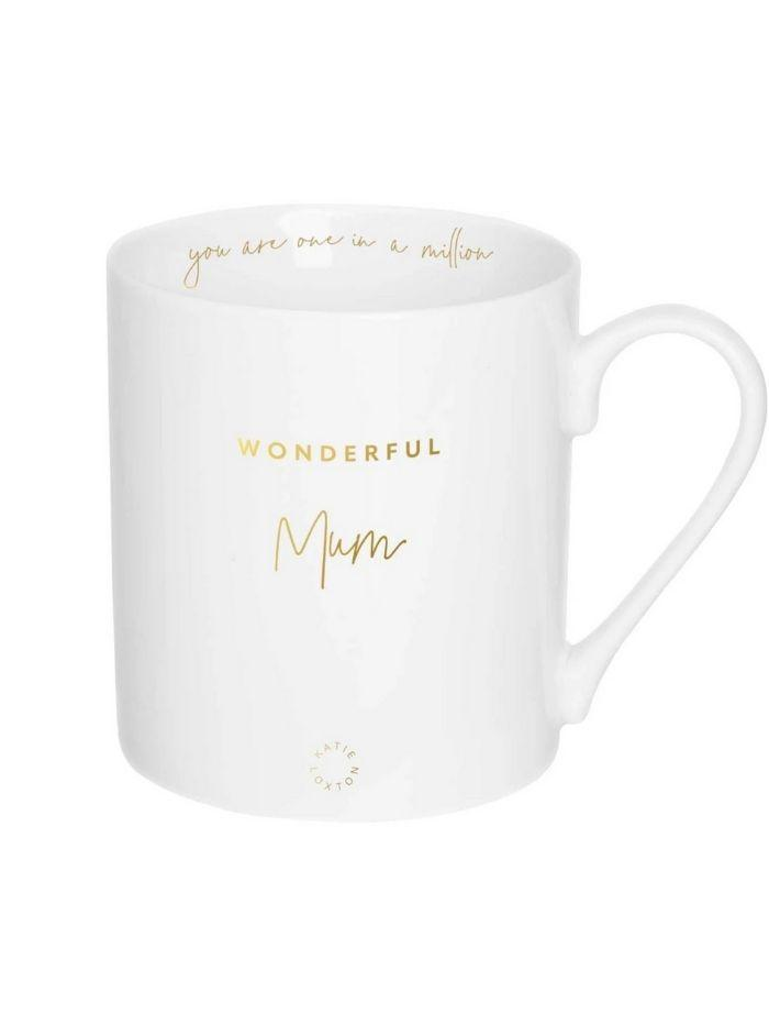 Katie Loxton Gifts One Size Katie Loxton Wonderful Mum Porcelain Mug KLCW002 izzi-of-baslow