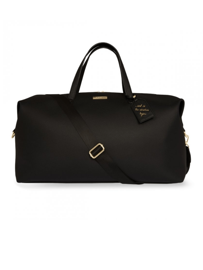Katie Loxton Handbags One Size Katie Loxton Black Weekend Away Holdall Duffle Bag KLB689 izzi-of-baslow