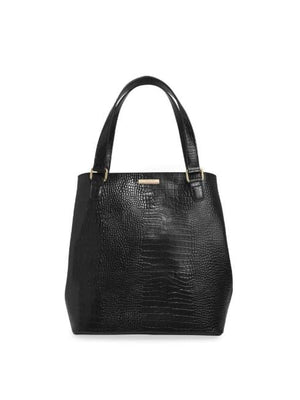 Katie Loxton Handbags One Size Katie Loxton Celine Black Faux Croc Day Bag KLB637 izzi-of-baslow