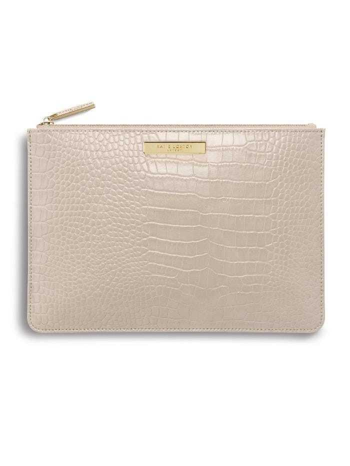 Katie Loxton Handbags One Size Katie Loxton Oyster Celine Croc Perfect Pouch KLB626 S izzi-of-baslow