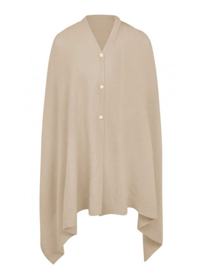 Katie Loxton Knitwear One Size Katie Loxton Eve Multiway Poncho Natural KLS266 izzi-of-baslow