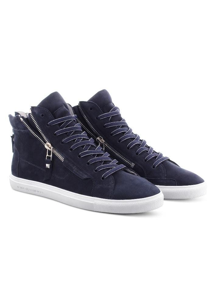 Kennel & Schmenger Shoes Kennel and Schmenger Ocean Navy and White Soft Nubuck Hi Top Trainer 51-15750-659-001 izzi-of-baslow