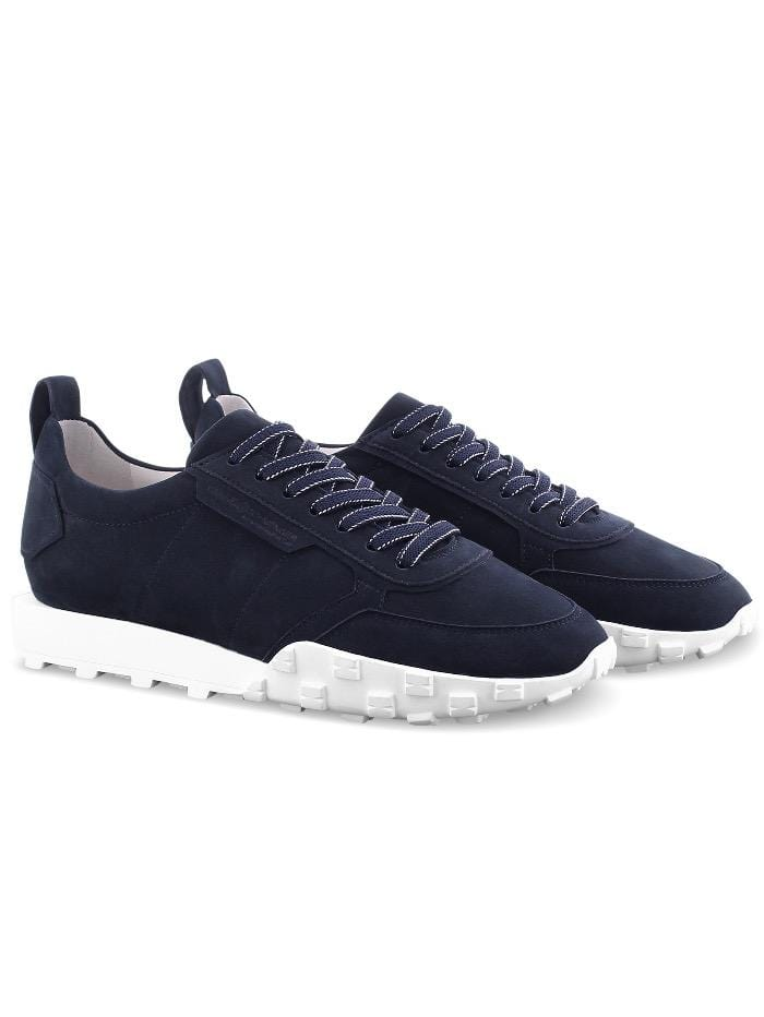 Kennel & Schmenger Shoes Kennel and Schmenger Ocean Navy and White Soft Nubuck Trainer 51-26400-659-001 izzi-of-baslow