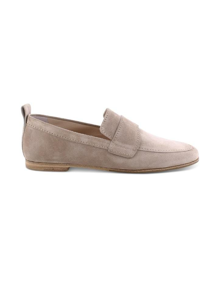 Kennel & Schmenger Shoes Kennel and Schmenger Tara Beige Suede Loafer 51-22660-451 izzi-of-baslow