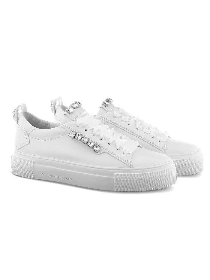 Kennel & Schmenger Shoes Kennel and Schmenger White Calf Skin Sneakers 51-22539-627 izzi-of-baslow