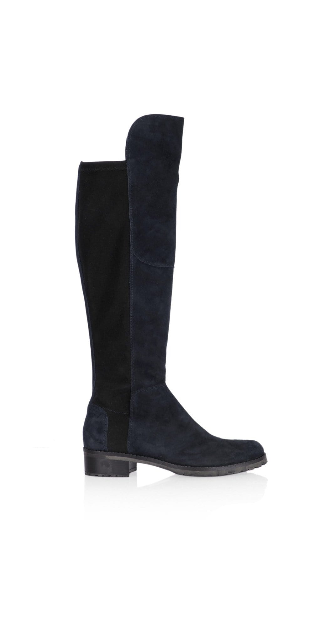 Kennel & Schmenger Shoes Kennel & Schmenger Blues Long Flat Boots in Navy Suede 41-24160-485 izzi-of-baslow