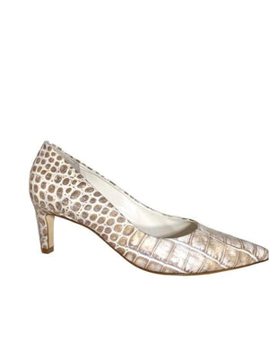 Kennel & Schmenger Shoes Kennel & Schmenger Enney Kitten Heel Court Shoes Icey Kroko 31-64600-324 izzi-of-baslow