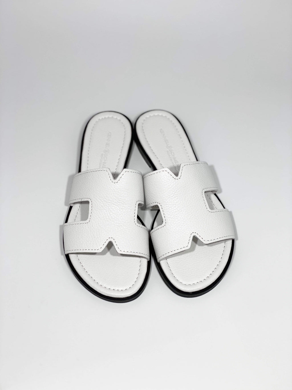 Kennel & Schmenger Shoes Kennel & Schmenger Kito White Flat Sandal  31-96650-223 izzi-of-baslow