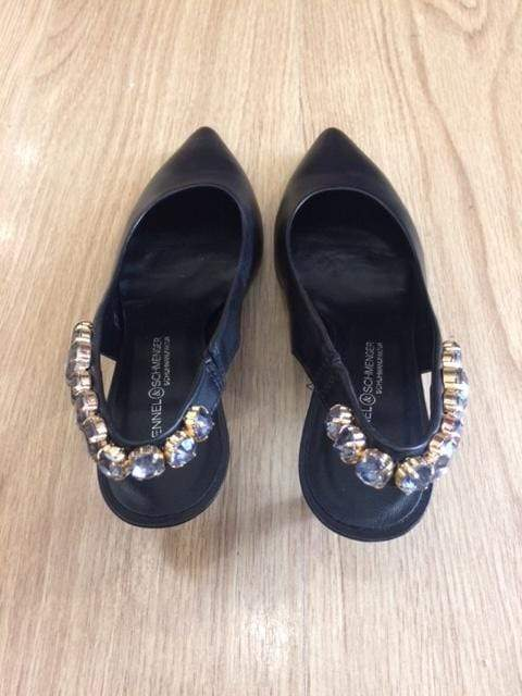 Kennel & Schmenger Shoes Kennel & Schmenger Kitten Heel Jewelled Sling Black 91-46960-310 izzi-of-baslow