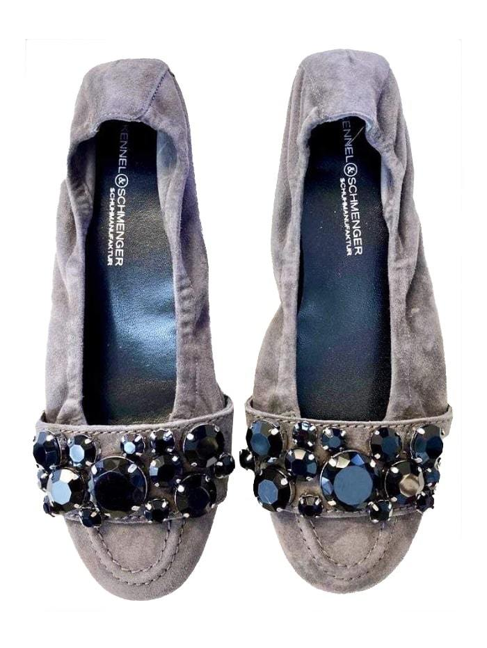 Kennel & Schmenger Shoes Kennel & Schmenger Malu Mouse Pump with Black Jewels 21-10450-485 izzi-of-baslow