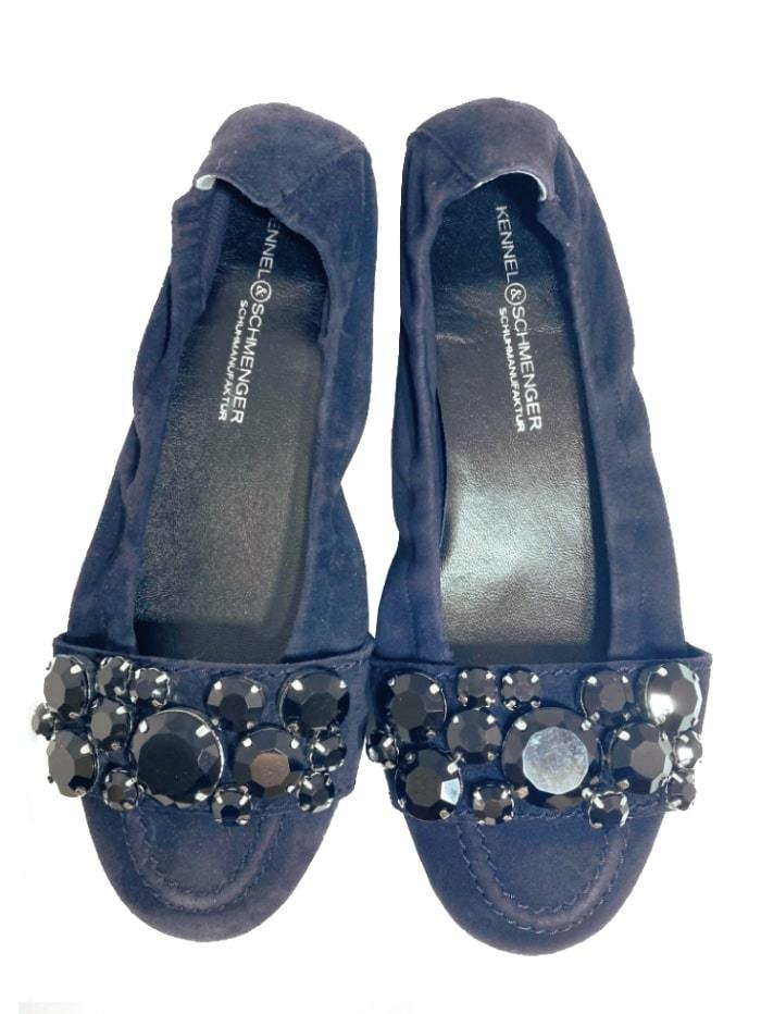 Kennel & Schmenger Shoes Kennel & Schmenger Malu Navy Pump with Black Jewels 21-10450-489 izzi-of-baslow