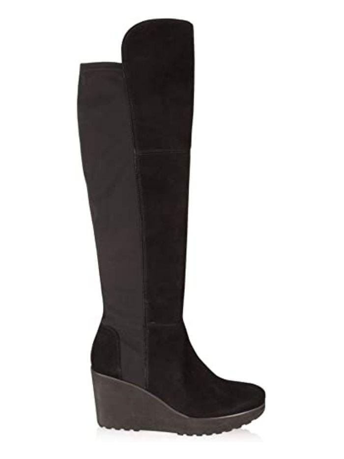 Kennel & Schmenger Shoes Kennel & Schmenger Nala Over The Knee Boots in Black Suede izzi-of-baslow