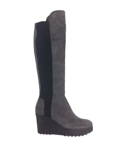 Kennel & Schmenger Shoes Kennel & Schmenger Nala Over The Knee Boots in Grey Suede izzi-of-baslow