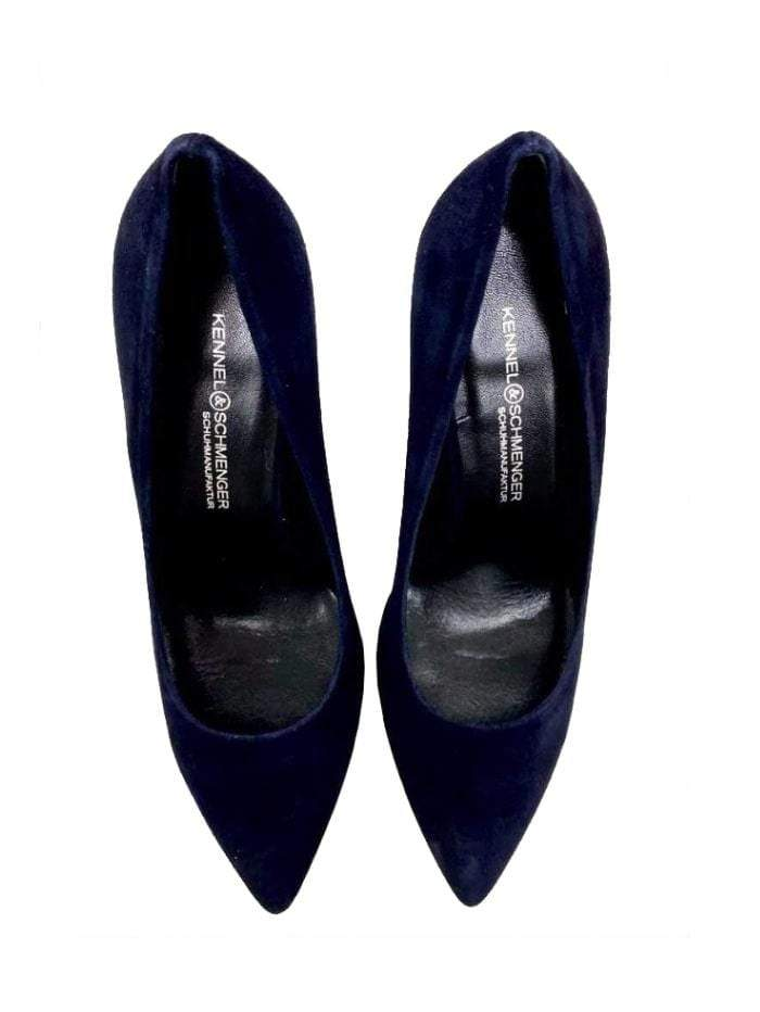 Kennel & Schmenger Shoes Kennel & Schmenger Navy Miley suede shoe 41-83500-498 izzi-of-baslow