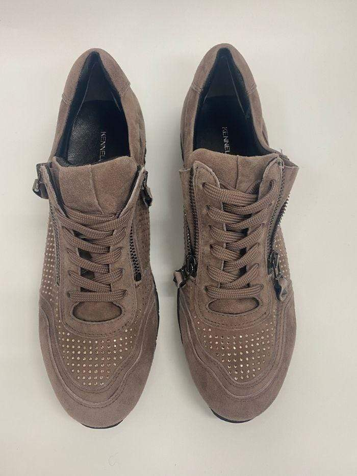 Kennel & Schmenger Shoes Kennel & Schmenger Rosewood Suede Trainer with Swarovski Crystals 61-18300-598 izzi-of-baslow