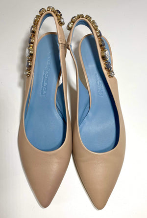 Kennel & Schmenger Shoes Kennel & Schmenger Selma Sling Back Kitten Heel Nude 91-46960-325 izzi-of-baslow