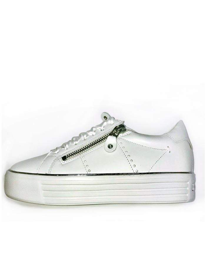 Kennel & Schmenger Shoes Kennel & Schmenger Up Trainer White With Silver Zips izzi-of-baslow