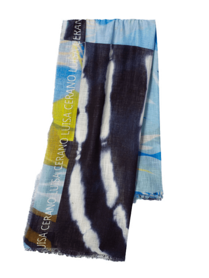 Luisa Cerano Accessories One Size Luisa Cerano Printed Cotton Scarf 838507/9360 izzi-of-baslow