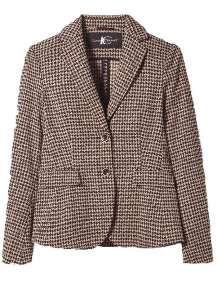 Luisa Cerano Coats & Jackets Luisa Cerano Checked Tweed Jacket 428090/2468 izzi-of-baslow