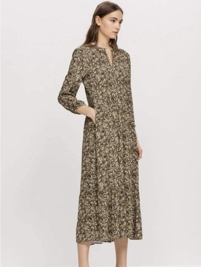 Luisa Cerano Dresses Luisa Cerano Olive Printed Dress 728162/2469 izzi-of-baslow