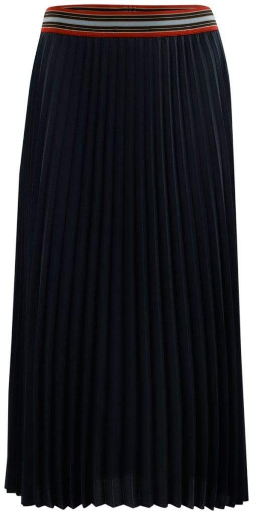 Luisa Cerano Skirt Luisa Cerano Navy Pleated Skirt With Elasticated Waist 528257/2108 izzi-of-baslow