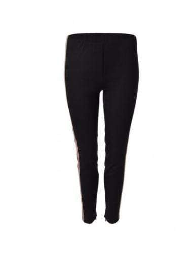 Luisa Cerano Trousers Luisa Cerano Black Ankle Zip Trousers izzi-of-baslow