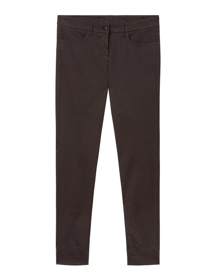 Luisa Cerano Trousers Luisa Cerano Chocolate Brown Chino Trousers  627504/1883 izzi-of-baslow