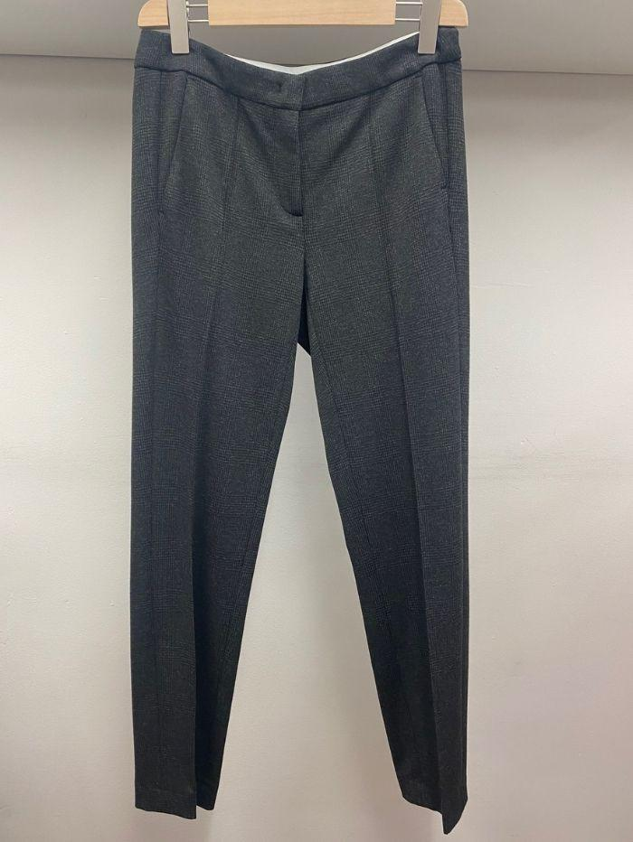 Luisa Cerano Trousers Luisa Cerano Grey Checked Trousers 688279/2262 1900 izzi-of-baslow