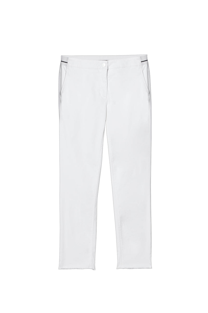 Luisa Cerano Trousers Luisa Cerano Slim Fit Trousers With Elasticated Waist White 618164/1883 izzi-of-baslow