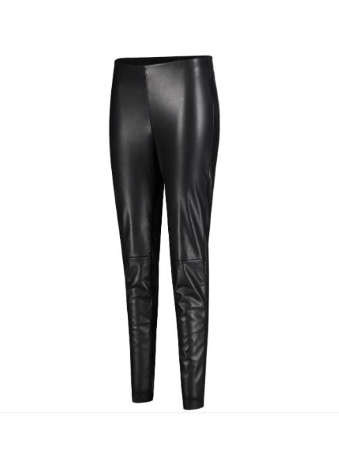 Mac Jeans Jeans Mac 5978 Vegan Leather  Leggings Black izzi-of-baslow