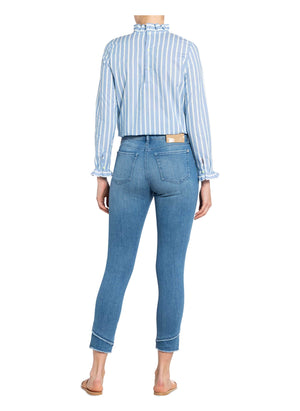 Mac Jeans Jeans Mac Day1.02 Skinny Double Fringe Jean 5938 D278 Pale Denim Blue izzi-of-baslow