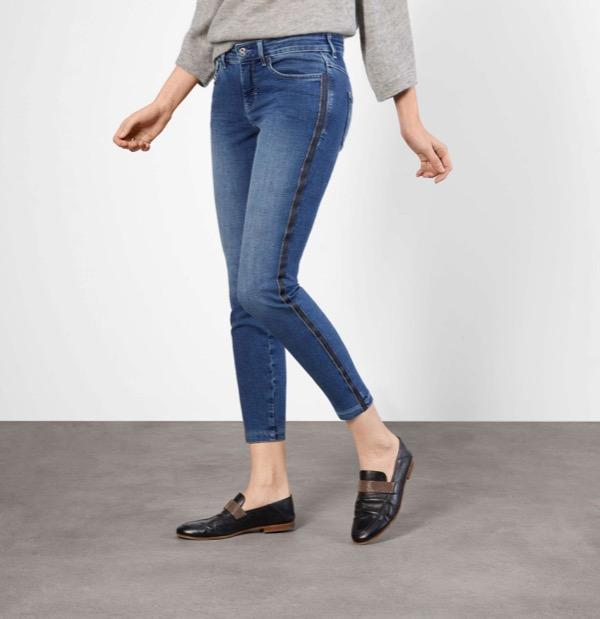 Mac Jeans Jeans Mac Dream Dream Slim Chain Galloon 5407 Jeans D569 Mid Blue Authentic izzi-of-baslow