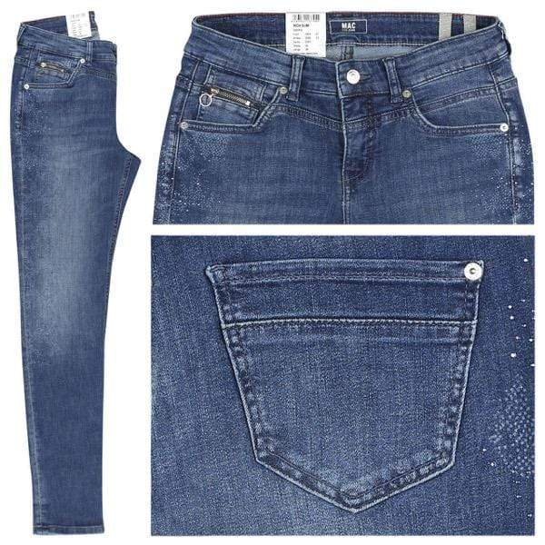 Mac Jeans Jeans Mac Dream Rich Slim Sparkle 5904 Jeans D561 Mid Blue Laser izzi-of-baslow